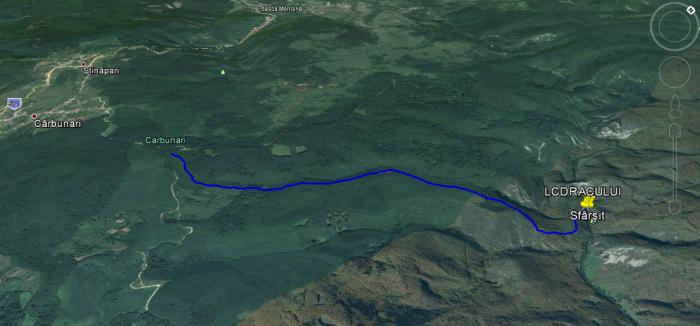 lacul dracului traseu harta